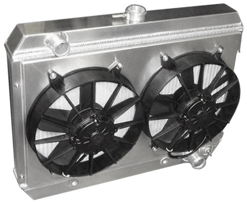 Entropy 1964-1967 GTO Aluminum Radiator with Dual Fans - Pontiac V8 Engines
