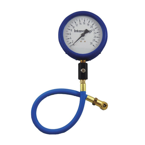 "Intercomp 4"" Ultra Deluxe Glow-in-the-Dark Air Pressure Gauge, 60 PSI"