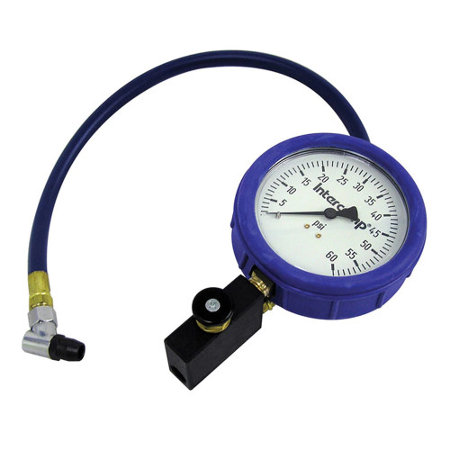 "Intercomp 4"" Fill, Bleed, & Read Air Pressure Gauge, 100 PSI"