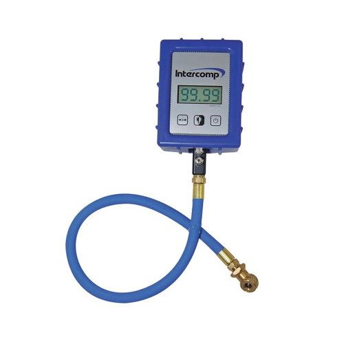 Intercomp Digital Air Pressure Gauge with Ball Chuck, 99.99 PSI
