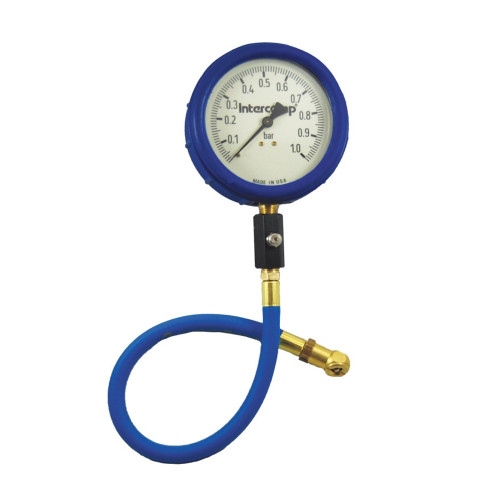 "Intercomp 4"" Ultra Deluxe Glow-in-the-Dark Air Pressure Gauge, 0-1 Bar"