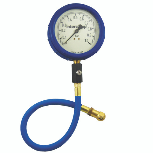"Intercomp 4"" Ultra Deluxe Glow-in-the-Dark Air Pressure Gauge, 0-2 Bar"