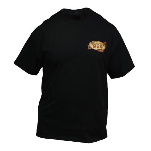 Quarter-Max Vintage T-Shirt, Black - Front