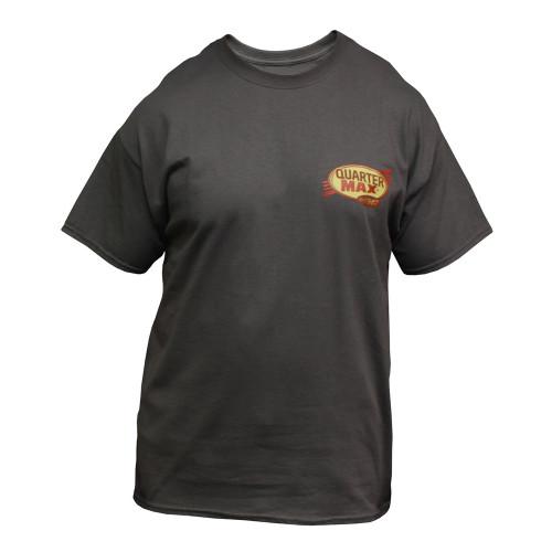 Quarter-Max Vintage T-Shirt, Charcoal - Front
