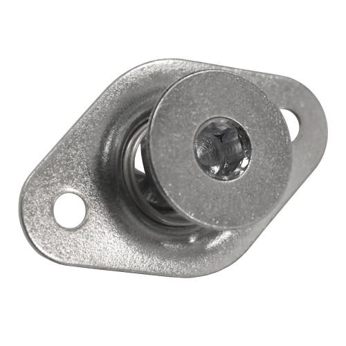 5/16 in. Self-Ejecting Flush Allen Head Quarter Turn Fastener, Steel, Silver, .500 in. Grip Length