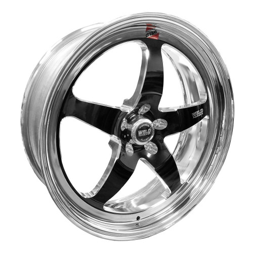 "Weld Racing S71, 20"" x 7"", 5 x 115, 4.3"" BS, Black Center, Polished Shell, High Pad"