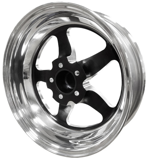 "Weld Racing S71, 17"" x 5"", 5 x 120, 2.2"" BS, Black Center, Polished Shell, High Pad"
