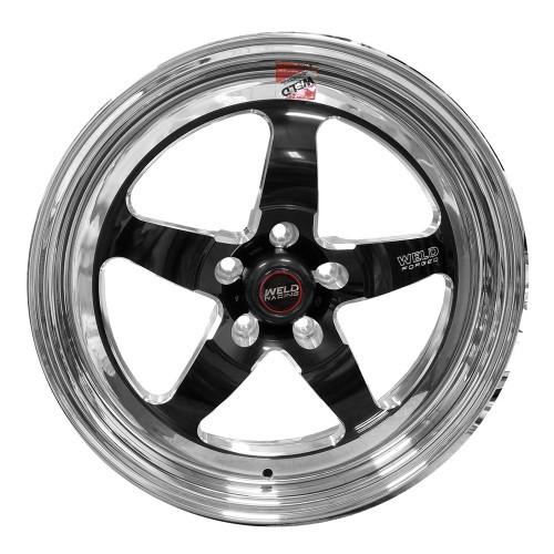 "Weld Racing S71, 17"" x 5"", 5 x 120, 2.2"" BS, Black Center, Polished Shell, High Pad"