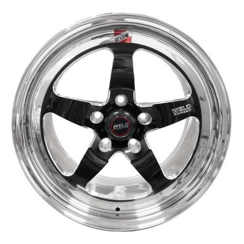 "Weld Racing S71, 17"" x 10"", 5 x 120, 7.2"" BS, Black Center, Polished Shell, High Pad"