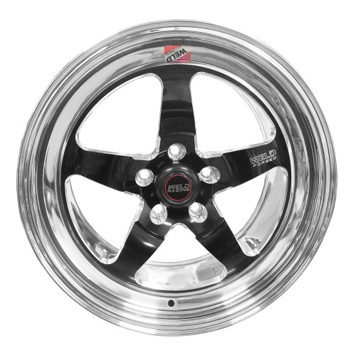 "Weld Racing S71, 17"" x 10"", 5 x 115, 6.7"" BS, Black Center, Polished Shell, High Pad"