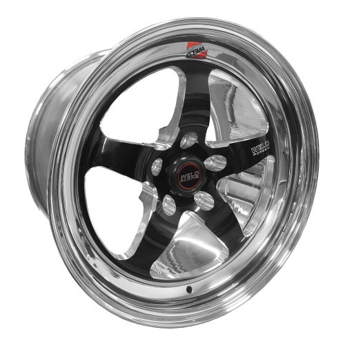 "Weld Racing S71, 17"" x 11"", 5"" x 4.75"", 7.7"" BS, Black Center, Polished Shell, High Pad"