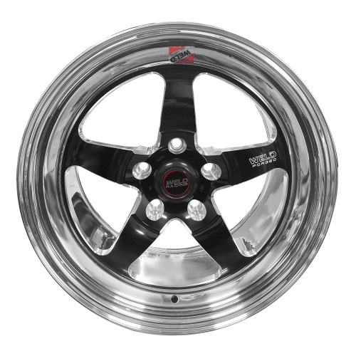 "Weld Racing S71, 17"" x 10"", 5"" x 4.5"", 7.9"" BS, Black Center, Polished Shell, Low Pad"