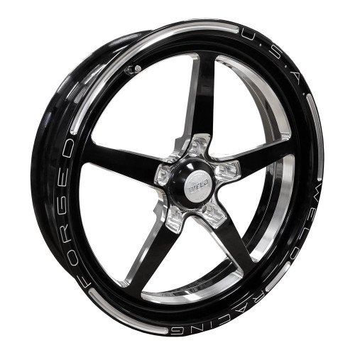 """Weld Racing AlumaStar 2.0, 17"""" x 4.5"""", 5"""" x 4.5"""", 2.25"""" BS, Black"""