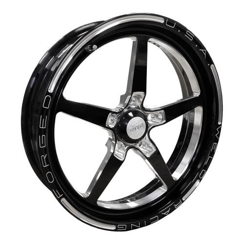 """Weld Racing AlumaStar 2.0, 17"""" x 4.5"""", 5"""" x 4.75"""", 2.25"""" BS, Black"""