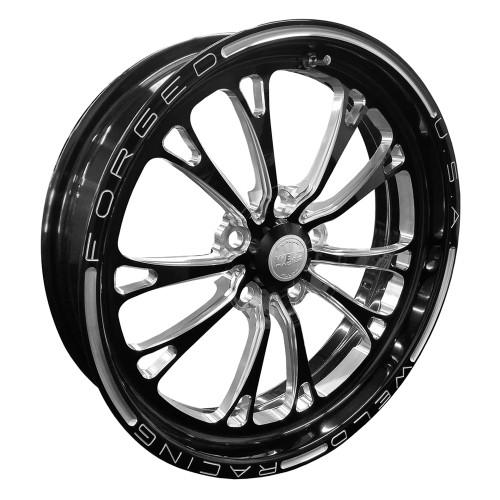 "Weld Racing V-Series, 17"" x 4.5"", 5"" x 4.5"", 2.25"" BS, Black"