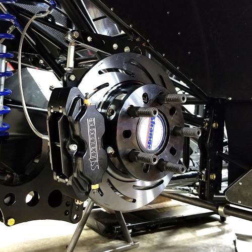 Strange Engineering B1708WCM Pro Series Rear Brake Kit Installed