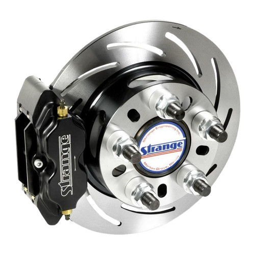 "Strange Engineering B1706WCM Pro Series Rear Brake Kit for Late Big Ford Ends, 2.500"" Offset, Hard Metallic Brake Pads"