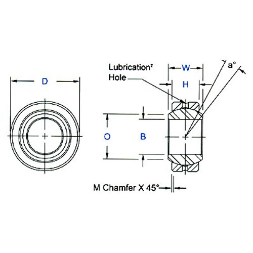 "Aurora Bearing-  1/2"" Bore x 1"" O.D. Spherical Bearing"