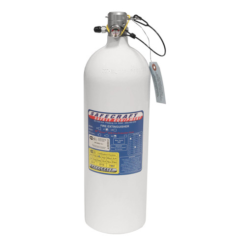 Safecraft LT10J 10 Lb Replacement Bottle, 3M Novec 1230 Fire Protection Fluid & Pull Cable