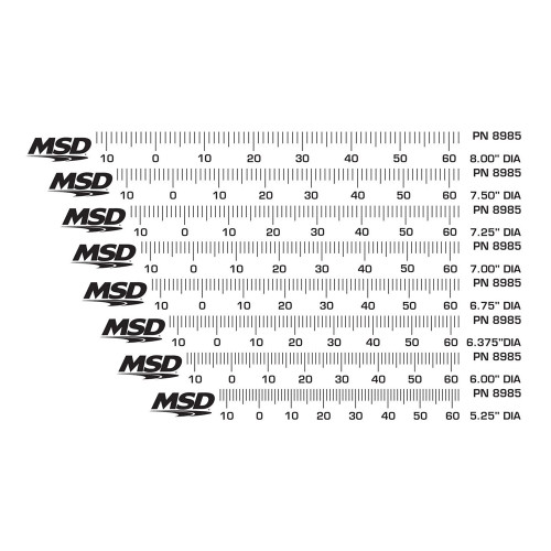 MSD Timing Tapes for Harmonic Balancers