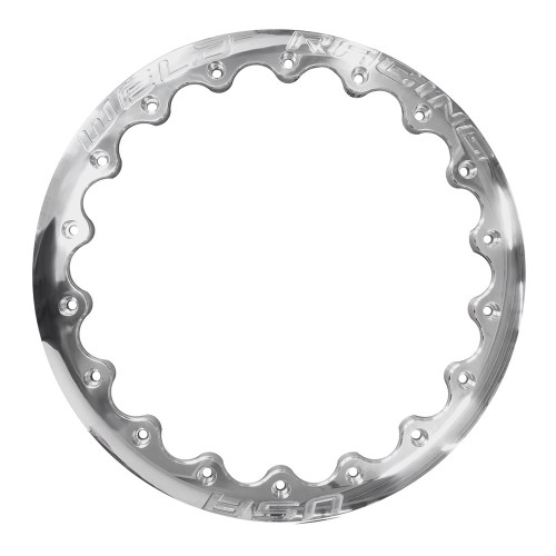 "Weld Racing Drag 18-Hole Ultra Lite DBL Ring, 16"", Polished"