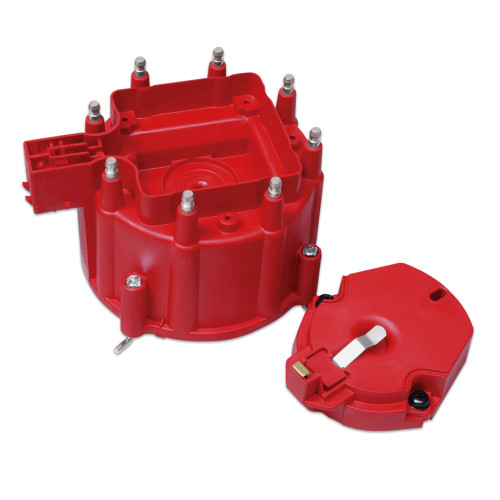 MSD GM HEI Distributor Cap & Rotor, Red