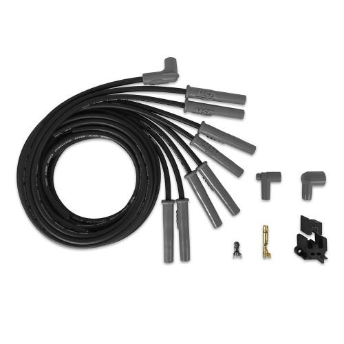 MSD Black Super Conductor Wire Set, 8 Cyl Multi-Angle/HEI, Universal
