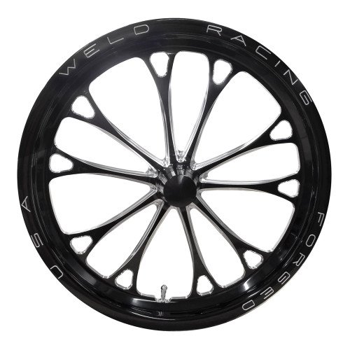 "Weld Racing V-Series, 17"" x 2.25"", Anglia, 1.13"" BS, Black"