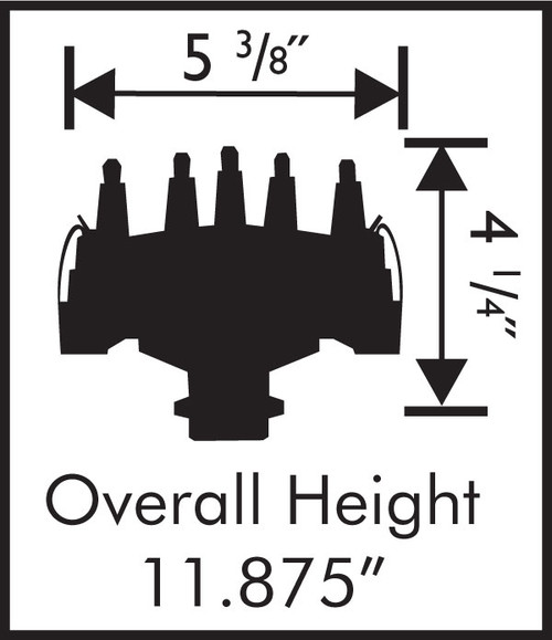 MSD Chevy V8 Crank Trigger Distributor Dimensions