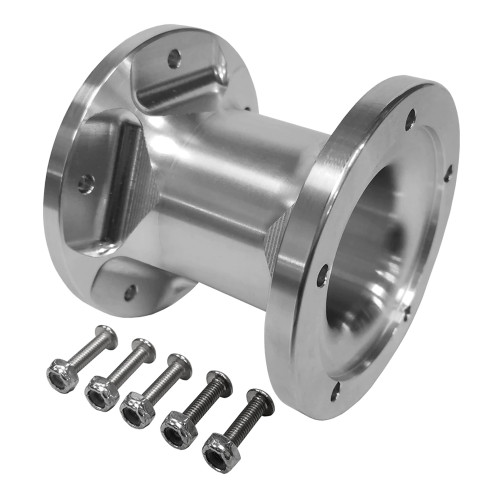 Quarter-Max Billet Steering Wheel Hub Extension, Raw, 3""