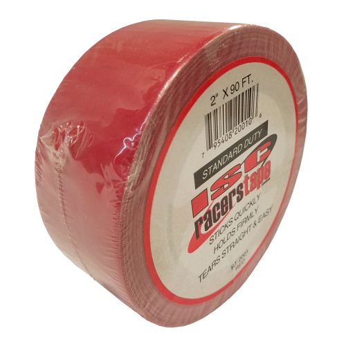 "ISC Racers Tape RT2001 Standard Duty Racers Tape, 2"" x 90', Red"