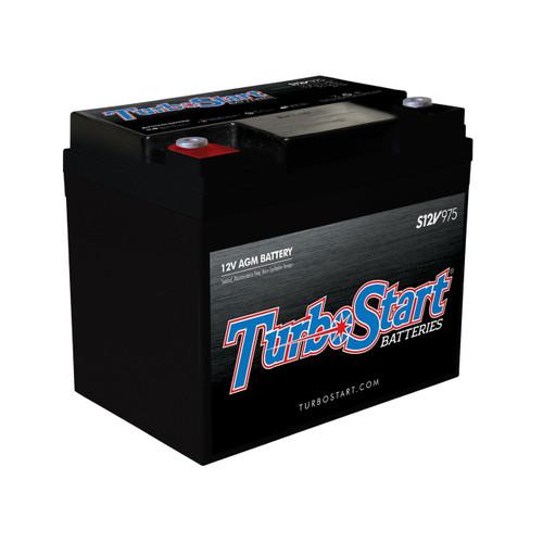 "TurboStart S12V975 12 Volt AGM Race Battery, 7.85"" L x 5.38"" W x 6.70"" H"
