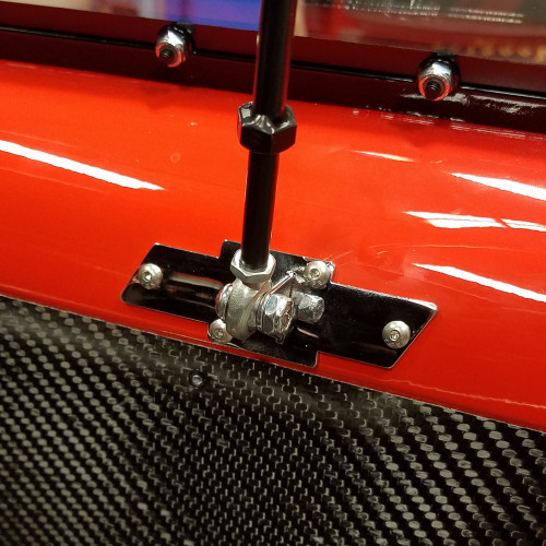 Quarter-Max Chevy Backing Plate, Aluminum - Installed