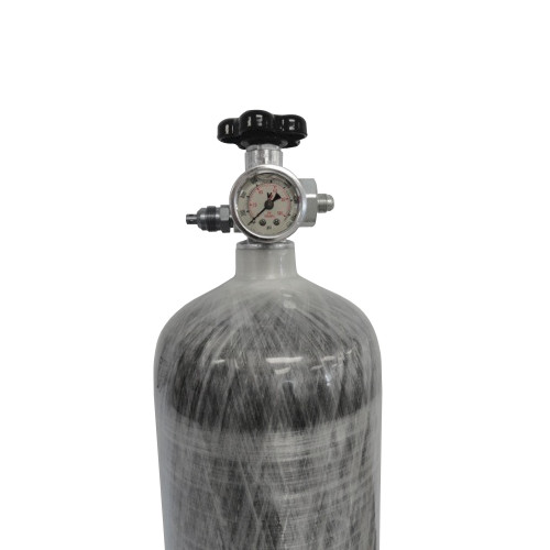 Induction Solutions 19880 Carbon Fiber Nitrous Bottle with Max-Flow Valve