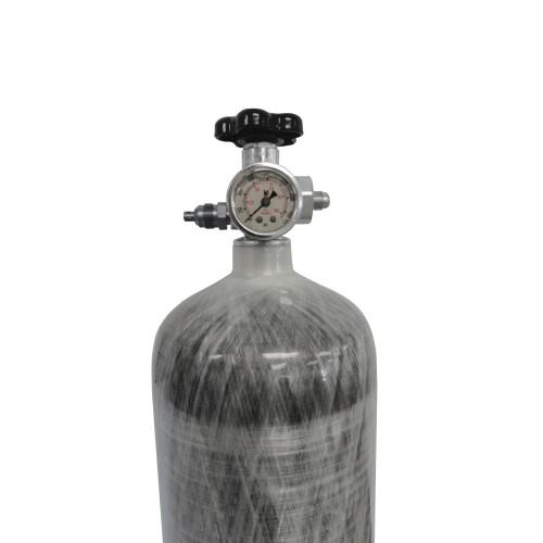 Induction Solutions 19880 Carbon Fiber Nitrous Bottle with Max-Flow Valve
