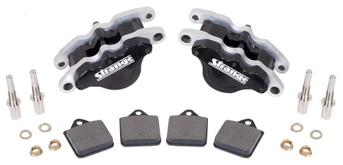 Strange Engineering B1816 Single Piston Caliper with Slider Assembly & Soft Metallic Pads
