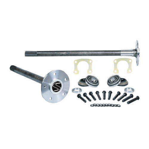 "Strange Engineering P3504 35 Spline Alloy Axle Package with Axle Bearings, Retainer Plates & 1/2"" Stud Kit"