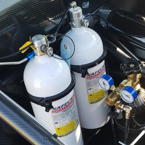 10 Lb Fire System, 3M Novec 1230 Fire Protection Fluid, Pull Cable & Steel Tubing Kit