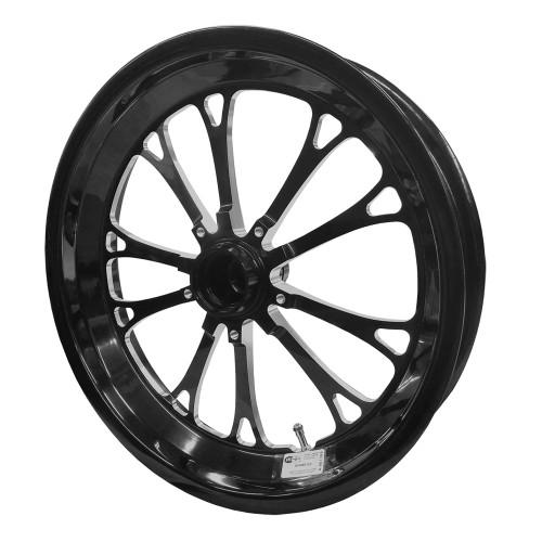 "Weld Racing 84B-17001 V-Series, 17"" x 3.5"", Strange, 1.75"" BS, Black"
