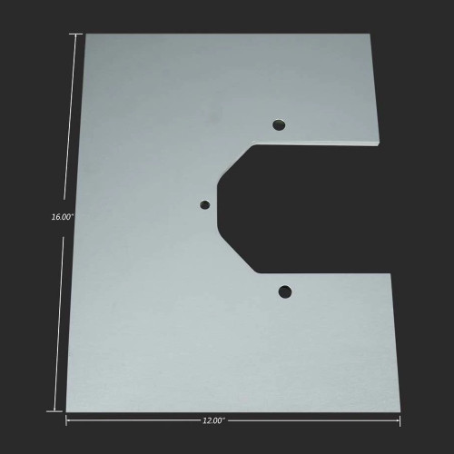 Strange Engineering H1150PB Aluminum Dragster Housing Mounting Plate - Blank - with dimensions