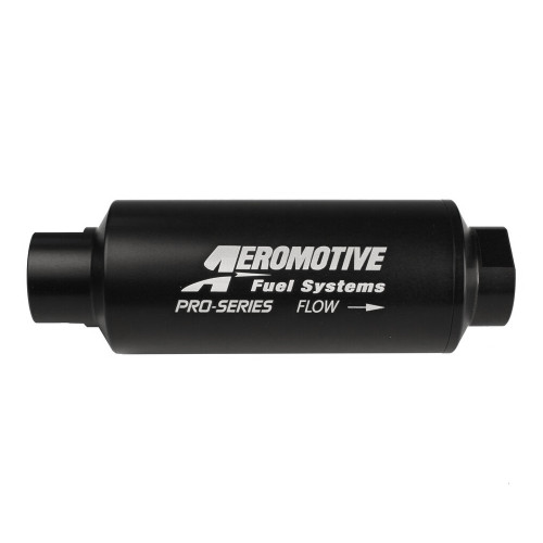 Aeromotive 12310 Pro-Series Filter, In-Line, 10-m Fabric Element, ORB-12, Nickel-Chrome