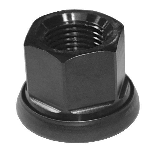 "Quarter-Max 600067-1 Aluminum Lug Nut, Black, 11/16""-18 Threads"