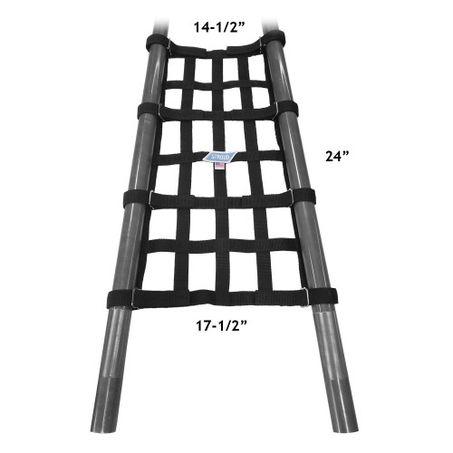 "Stroud Safety Custom Wheelie Bar Net with Velcro Straps, 24"" x 14-1/2"" x 24"" x 17-1/2"""