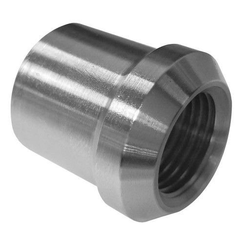 "5/8""-18 RH x 1"" .065"" Tube Adapter, Short Style"