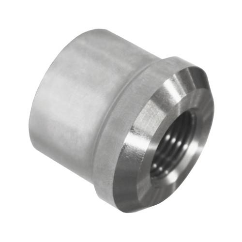 "5/8""-18 LH x 1-1/4"" .065"" Tube Adapter, Short Style, Titanium"