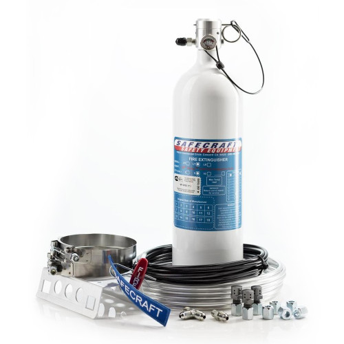 Safecraft LT5JAA 5 Lb Fire System, 3M Novec 1230 Fire Protection Fluid, Pull Cable & Aluminum Tubing Kit