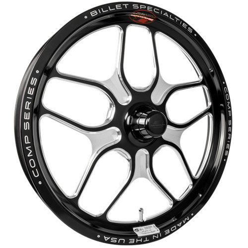 "Billet Specialties Comp 7, 17"" x 2.125"", Anglia, 1.06"" BS, Black"
