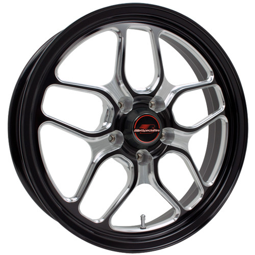 "Billet Specialties RSFB27456427N Win Lite, 1 Piece, 17"" x 4.5"", 5"" x 4.5"" use with 14mm lug nuts, 2.75"" BS, Black"