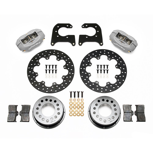 "Forged Dynalite Rear Drag Brake Kit for New Big Ford Ends, 2.50"" Offset - Kit contents"