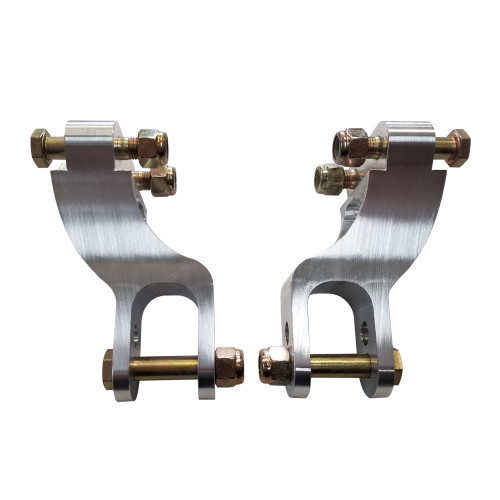 "Quarter-Max 300004 Billet Adjustable Double Shear Shock Mounts, 3/4"" Wide, 1"" Offset, Aluminum"